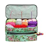 Looen Knitting Bag Large Size,Yarn Storage Organizer Tote Bag Holder Case Cuboid with Zipper Closure and Pocket for Knitting Needles Crochet Hooks Project Accessories,Easy to Carry,Best Gift: more info