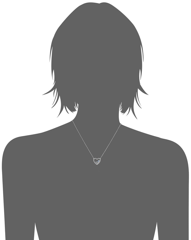 Caperci Sterling Silver Love Open Heart Pendant Necklace Women Girls, 18'' by Caperci (Image #2)