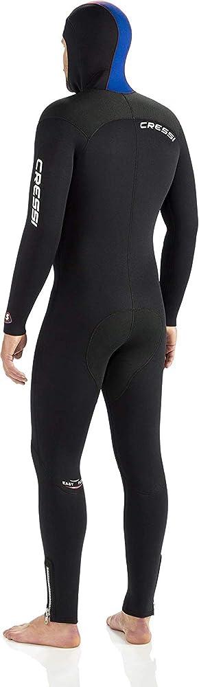Cressi Herren Monopiece Wetsuit Tauchanzug Diver 7 mm mit Angesetzter Haube