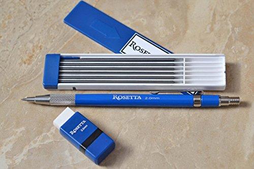 Rosetta Da Vinci 2 mm Mechanical Pencil Set, Pencil, Leads,