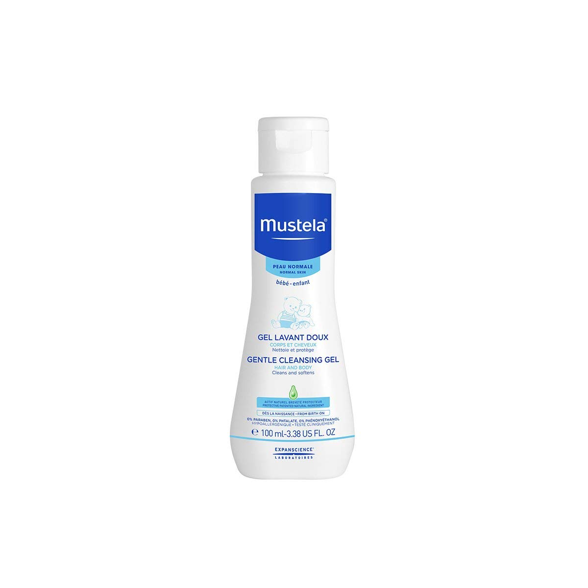 Mustela Newborn Arrival Gift Set - Baby Skincare & Bath Time Essentials - Natural & Plant Based - 5 Items Set