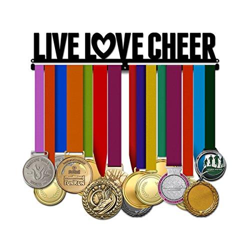 Believe&Train Live Love Cheer - Cheerleading Medal Hanger (Hanger Cheer Medal)