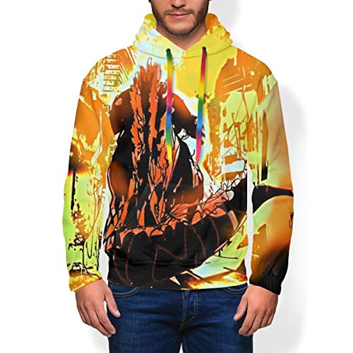 Unisex Mens Long Hooded Fleece Sportswear for Autumn Yoga Baseball, Fire Godzilla King of The Monsters 3D Print Pretty Photo Pullover Hoodie Cosplay Costume