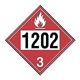 INCOM Manufacturing: Pre-Numbered UN Placards, Diesel Fuel, Fuel Oil 1202, Adhesive Vinyl