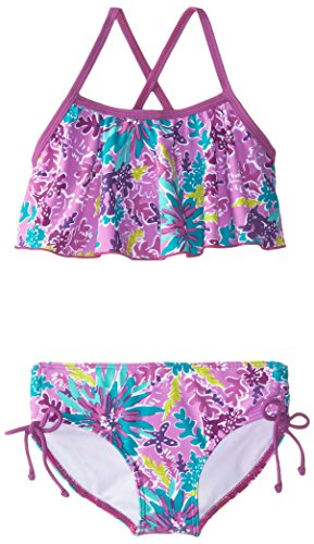 Kanu Surf Little Girls' Ariel Flounce Bikini Swimsuit, Purple, 6