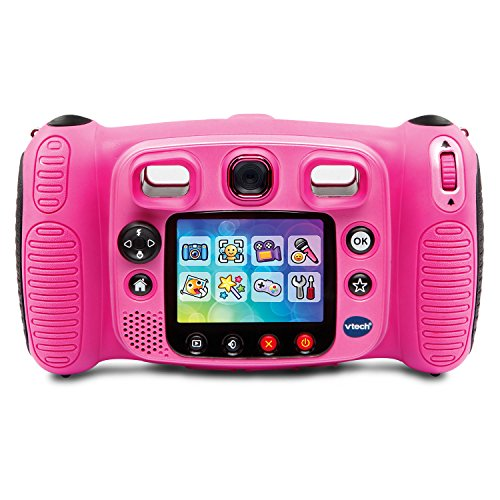 VTech Kidizoom Duo 5.0 Deluxe Digital Selfie Camera with MP3 Player and Headphones, Pink