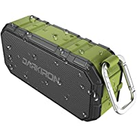 Darkiron K6 Outdoor Bluetooth Speakers Waterproof IPX6 Portable Wireless and Power Bank with Bass HD Sound Built in Mic Waterproof and Sandproof for Shower Biking Hiking Camping Beach Poolside Party