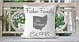 Go Buckeyes Pillowcase, Ohio Pillow Cover, Personalized Throw Pillow Cover, Monogram Pillowcase, Ohio Decor, Family Pillowcase, Sports Decor