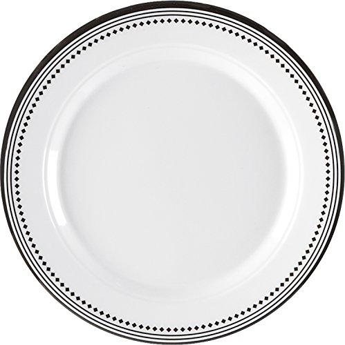 Q Squared Classica BPA-Free Melamine Bread & Butter Plate, 5-1/2-Inches, Set of 4, White, (Black Melamine Fish Platter)