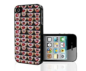 Red Lipstick and Smoke Hard Snap on Phone Case (iPhone 4/4s)