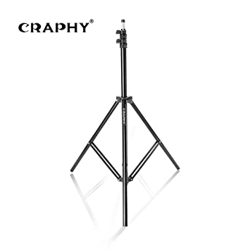 CRAPHY 200cm Lighting Support Photography para Reflector, softbox, luz, Paraguas y Fondo