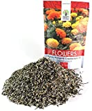 African Marigold Seeds Crackerjack Mix - Bulk 1/4 Pound Bag - Over 40,000 Seeds - Huge Orange and Yellow Blooms