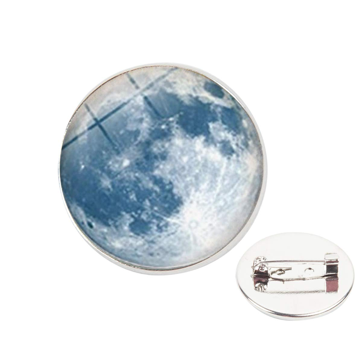 Pinback Buttons Badges Pins Gray Planet Galaxy Moon Lapel Pin Brooch Clip Trendy Accessory Jacket T-Shirt Bag Hat Shoe