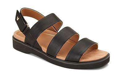 11517ce1e9c5 Vionic Women s Leila Keomi Backstrap Sandal - Ladies Concealed Orthotic  Support Sandal Black 5 ...