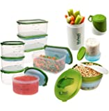 Fit & Fresh Perfect Portion Kit with Breakfast Chiller and Snacker, Green