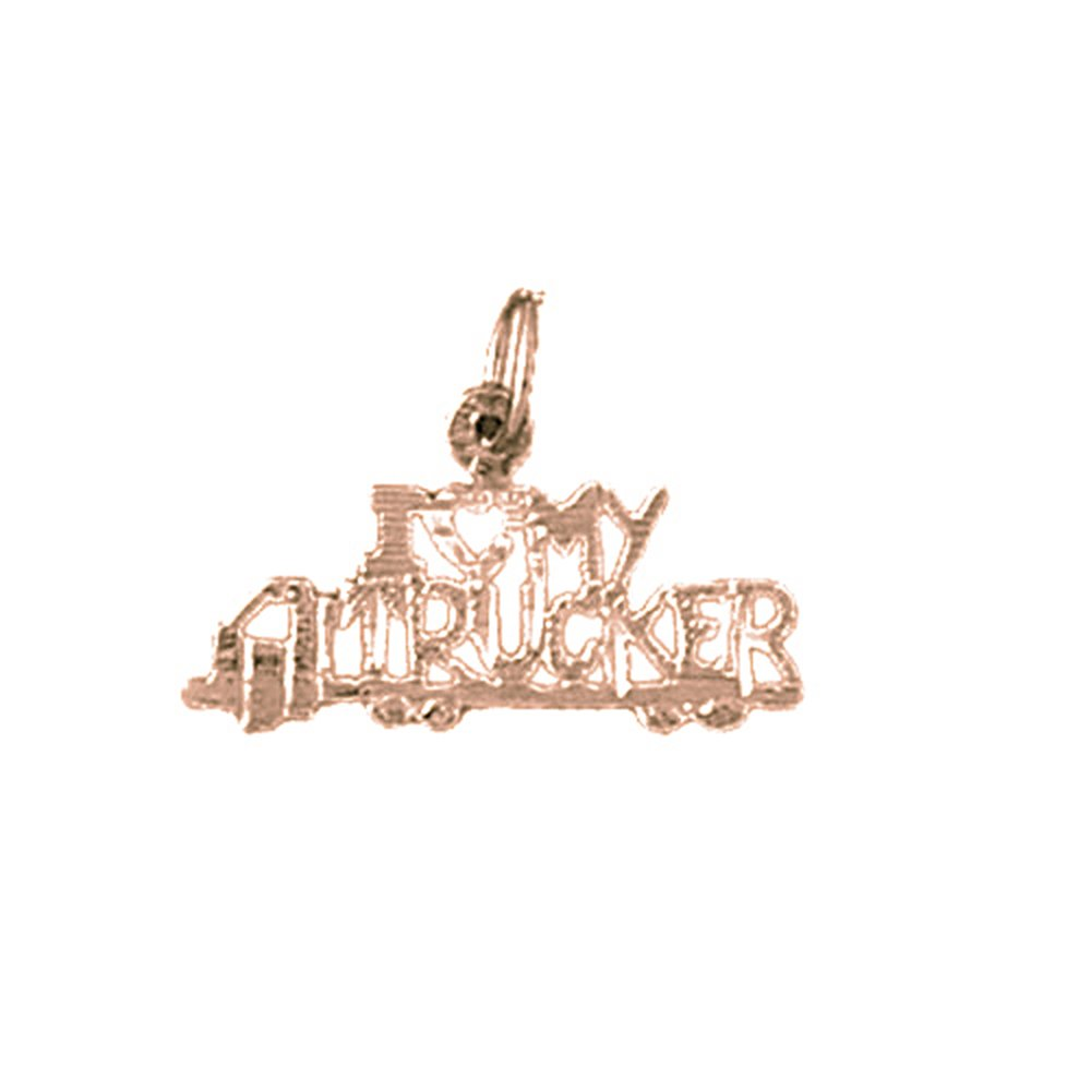 Jewels Obsession I My Trucker Necklace 14K Rose Gold-plated 925 Silver I My Trucker Pendant with 18 Necklace