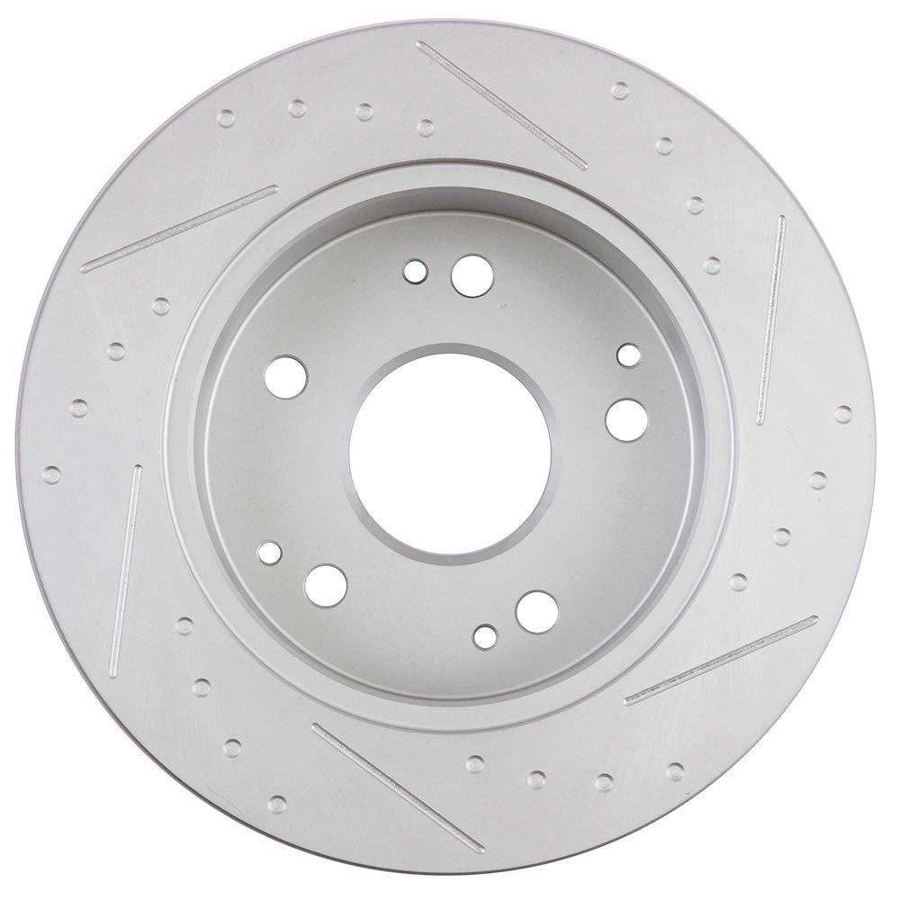 2pcs Rear Brake Discs Rotors Brakes Kits fit for 1997 1998 2000 2001 Acura Integra,2002-2006 Acura RSX,1998-2002 Honda Accord,2004 2005 Honda Civic 803372-5211-1512028562 ECCPP Brake Rotors