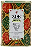 Zoe Organic Extra Virgin Olive Oil 25.5 FL. OZ. Tin, Spanish Extra Virgin Olive Oil, First Cold Pressing of Spanish Cornicabra Olives, Delicate Aromatic Buttery Flavor