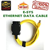 New Ethernet Enet RJ45 Yellow OBD OBDII OBD2 E-SYS ICOM Coding F-series Cable-HR-Tool
