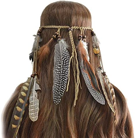 Yishelle Sombrero de fascinadores Feather Hippie Diadema Tribal ...
