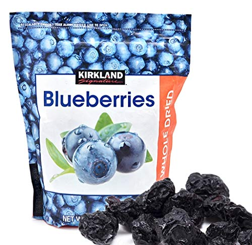 - Kirkland Signature Whole Dried Blueberries (Resealable Bag) - 20 oz.