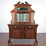 Antique Walnut Victorian Mirror Buffet Sideboard Server