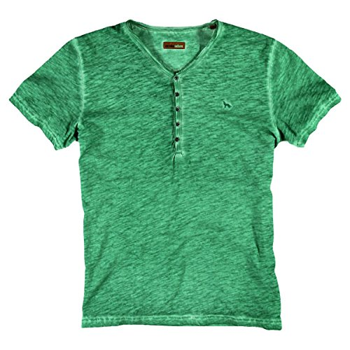 emilio adani Herren Henley T-Shirt, 25459, Grün