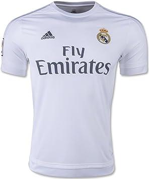 adidas Real Madrid CF Home Authentic Jersey-White - ADID-S12654-XL, Blanco: Amazon.es: Deportes y aire libre