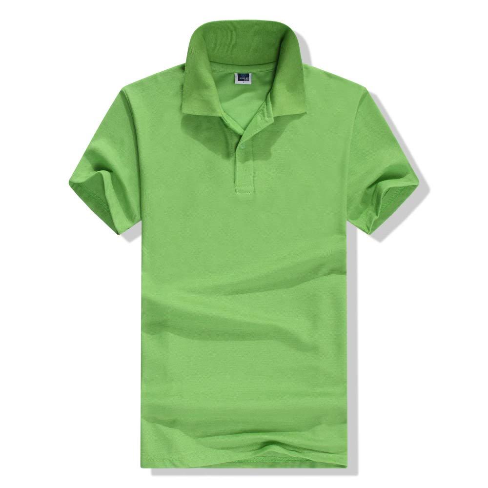 Camiseta de Manga Corta de Verano con Solapa Verde Fruta XXXL ...