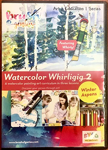 Learn Watercolor Painting in 3 Easy Lessons DVD | Winter Aspens| How To Paint with Watercolor | Watercolor Techniques DVD | Landscape Art | Watercolor Painting Lessons Video | Watercolor DVD| Volume 2 ()