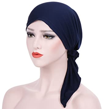 Gemini Mall® Femme musulmane India Style Causal peluches caches musulmane  Chapeaux stretch Turban Chapeau Tie 35d7d8552f60