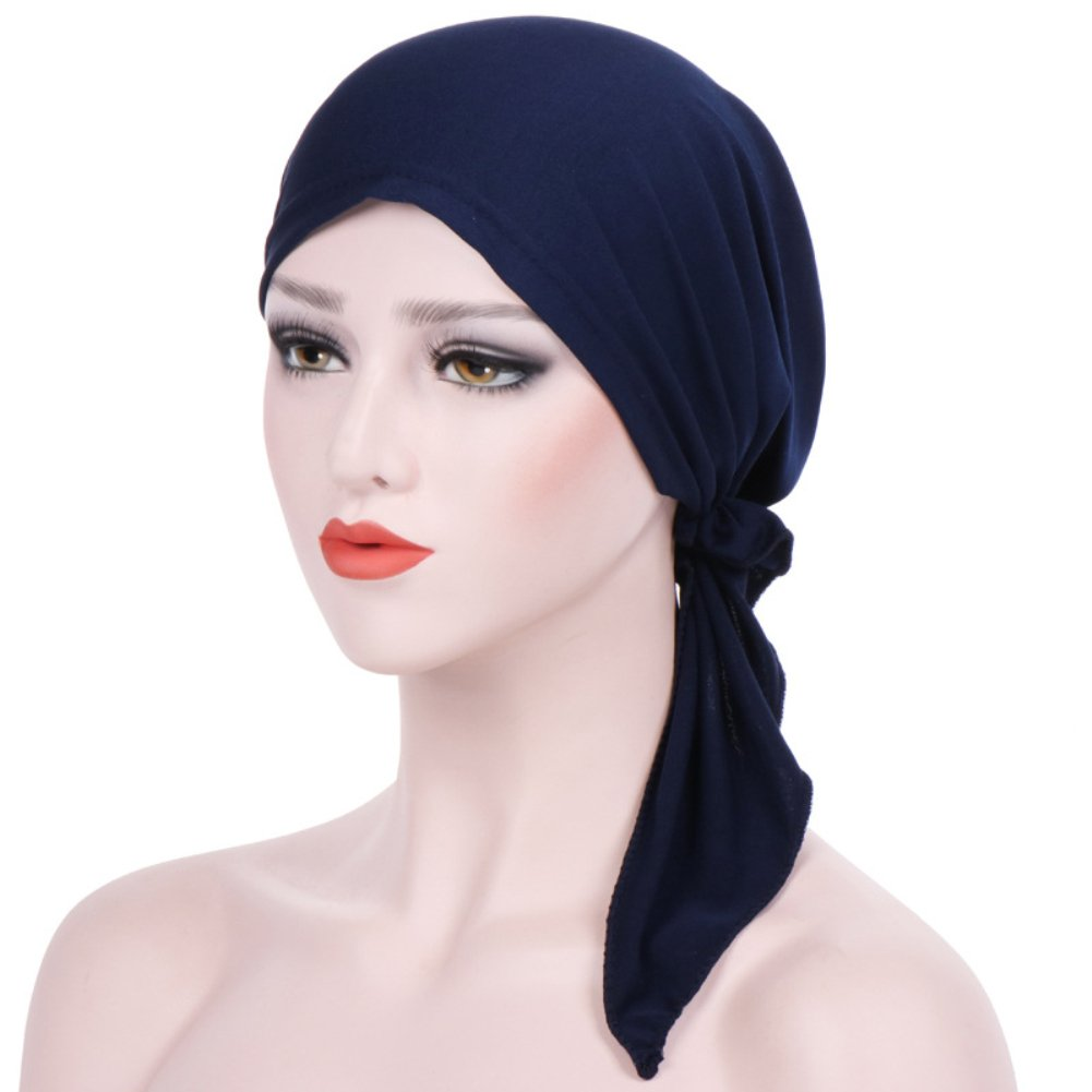 Trenton Bella Scarf Chemo Hat Turban Head Scarves Pre-Tied Headwear Bandana Tichel for Cancer (Black) by TRENTON (Image #7)