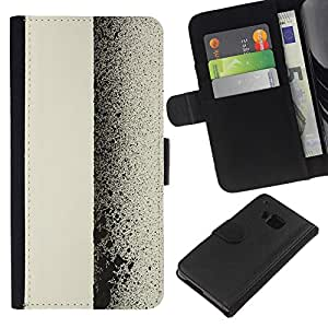 HTC One M7 Modelo colorido cuero carpeta tirón caso cubierta piel Holster Funda protección - Minimalist Art Ink Spots Spray Graffiti