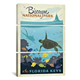 iCanvasART ADG82 3-Piece Biscayne National Park Florida Keys by Anderson Design Group Canvas Print, 60-Inch by 40-Inch, 0.75-Inch Deep