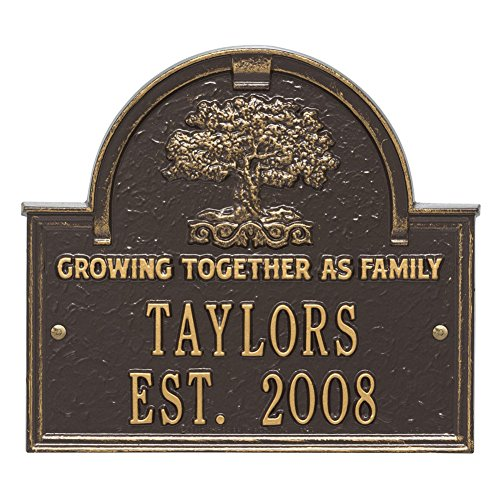 Whitehall Personalized Family Tree Custom Indoor/Outdoor Anniversary Aluminum Wall Plaque - ()