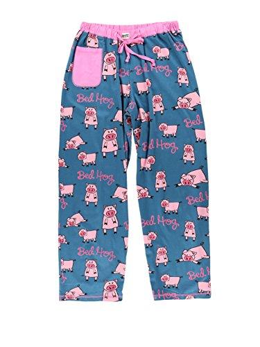 One Pig - Bed Hog Women's Pajama Pants Bottom by LazyOne | Pajama Bottom for Women (Small)