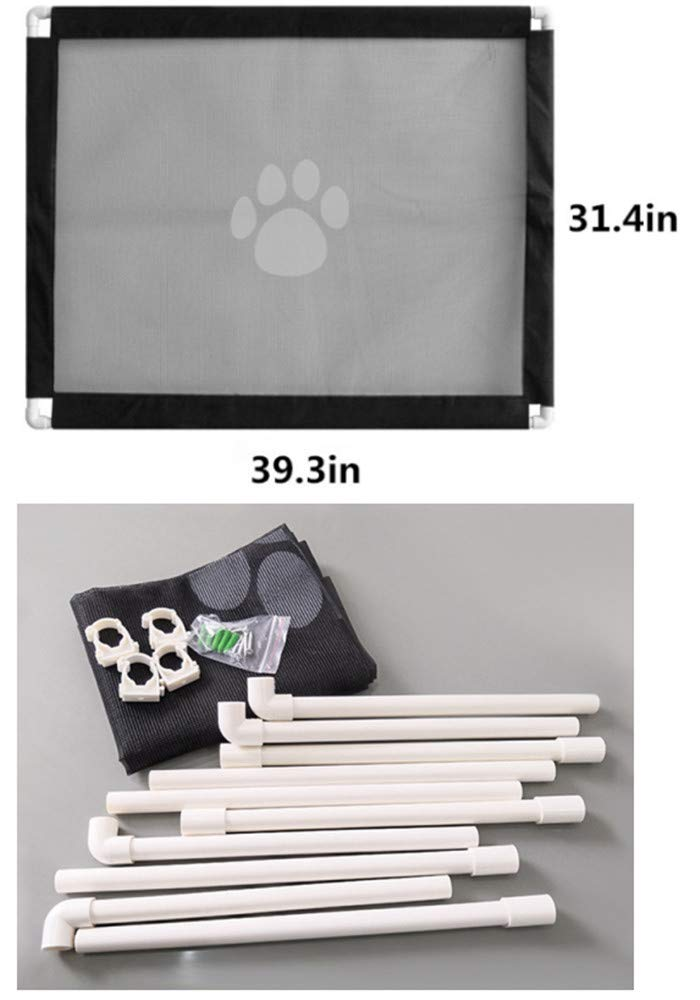 Magic Gate for Dog,Strong Pet Gate Portable Folding Safe Guard Install Anywhere for Pet Safe,Pet Isolation Fence Net by Y&Z (Image #2)