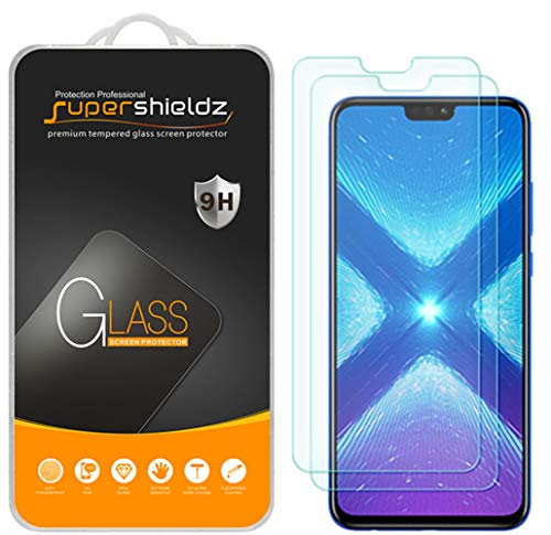 [2-Pack] Supershieldz for Huawei Honor 8X Tempered Glass Screen Protector, Anti-Scratch, Bubble Free, Lifetime Replacement