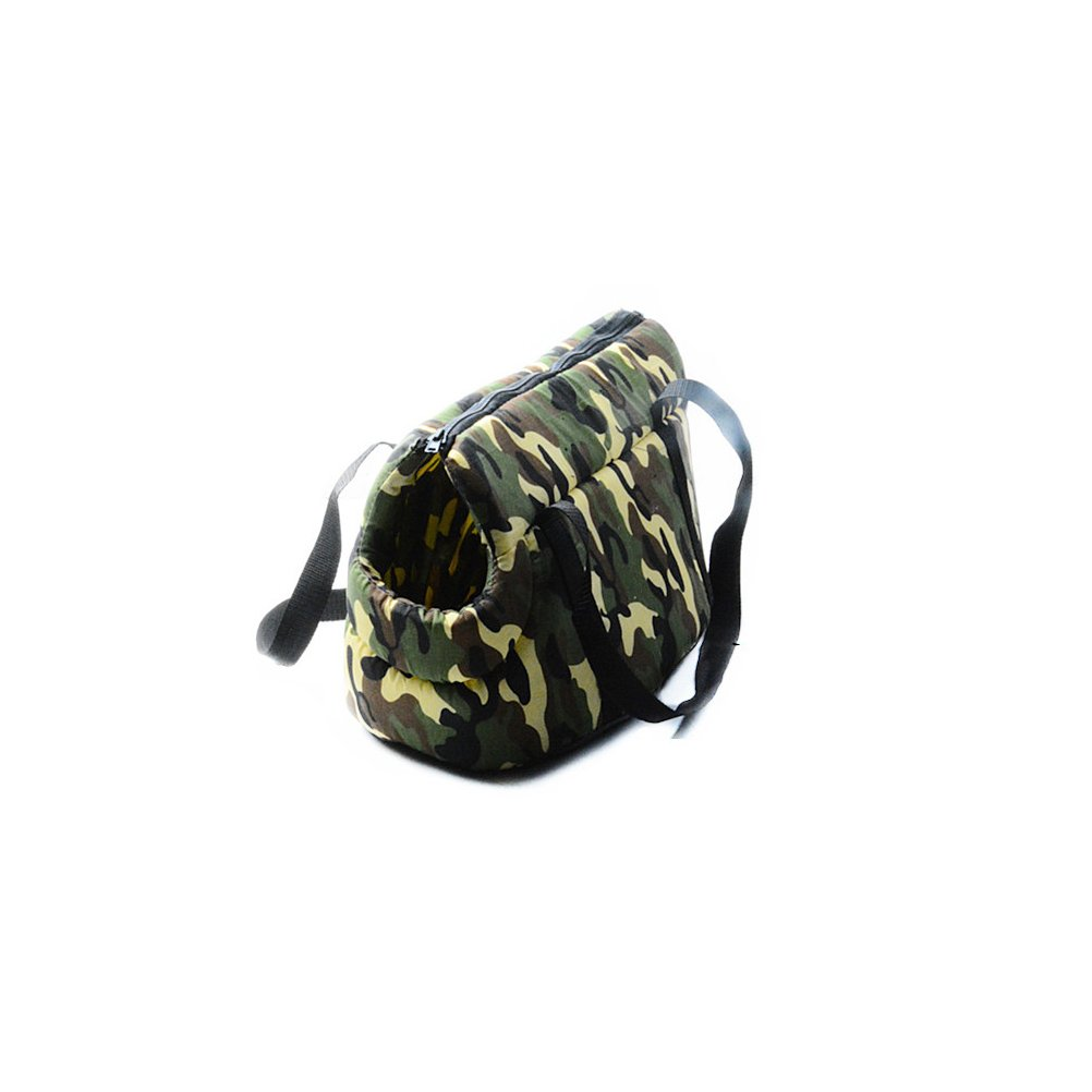(S) Camouflage Handbag for Pets Dog Carrier Fashionable for Puppy Tote for Cat Head Out