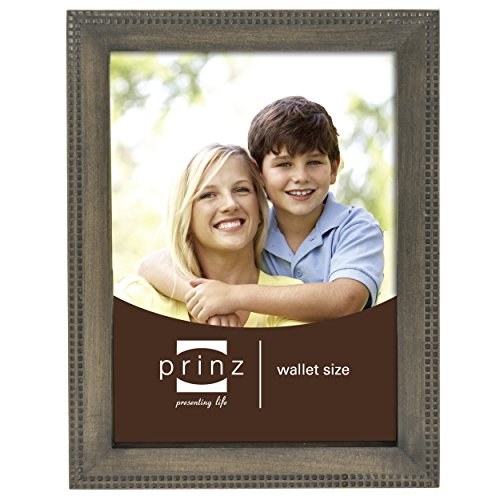 Prinz Sonoma Wood Frame with Embossed Square Pattern, 2.5...