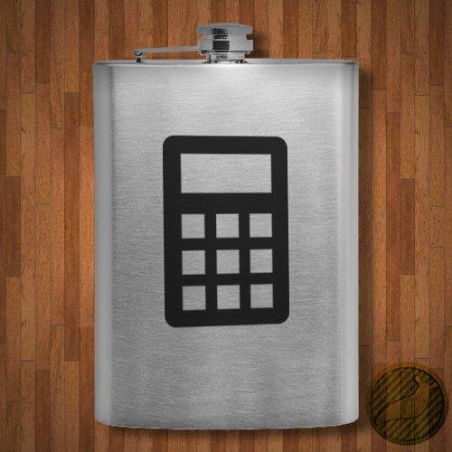 STICKERSLUG Calculator 8 OZ Stainless Steel Flask