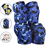 Innovative Soft Kids Knee and Elbow Pads with Bike Gloves   Toddler Protective Gear Set w/Mesh Bag& Sticker   CSPC Certified& Comfort   Roller-Skating, Skateboard Knee Pads for Children Boys Girls