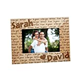I Love You Valentines Day Personalized Wood 4x6 Picture Frame, Engraved
