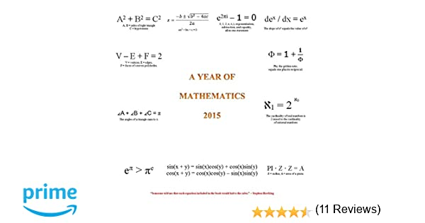 Amazon.com: A Year of Mathematics 2015 Calendar: Office Products