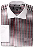 Stacy Adams Mens Broken Check W/Vertical Stripe Classic Fit Dress Shirt