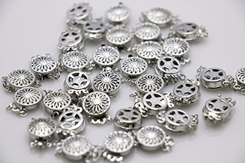 10PCS Rhinestone beads Accessory buttons findings for snaps jewelry metal parts DIY Making Design magnetism Necklace Gold-Color10PCS 12x4.6mm Hot wholesale Snap Button Metal Accessory Silver-plate (Silverplate Rhinestone)