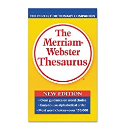 Merriam Webster - Paperback Thesaurus, Dictionary Companion, Paperback, 800 Pages 850 (DMi EA