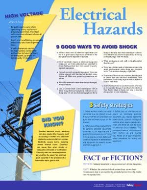 Workplace Electrical Safety Poster: Industrial Warning ...