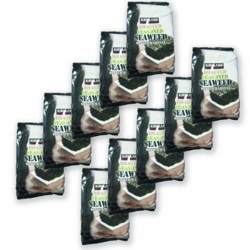 20 Pack Kirkland Signature Roasted Seasoned Seaweed Winter Harvest- 17gm Package by Kirkland Signature (Image #1)