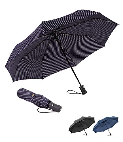 - BOY Large Auto Umbrella Fast Dry Portable Folding Umbrella Windproof Travel Golf Collapsible Compact Umbrella with Teflon Coating